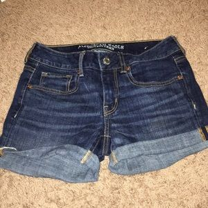 American Eagle size 4 denim midi shorts